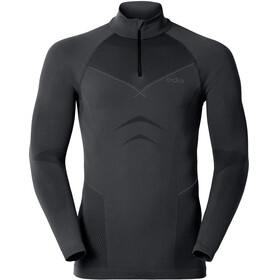 Odlo Evolution Shirt L/S Turtle Neck 1/2 Zip Men black/odlo graphite grey